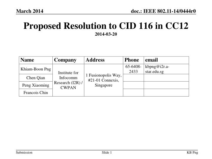 proposed resolution to cid 116 in cc12 2014 03 20 n.