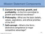 mission statement components1