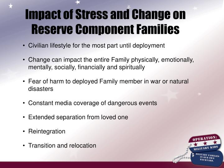Impact of Stress and Change on