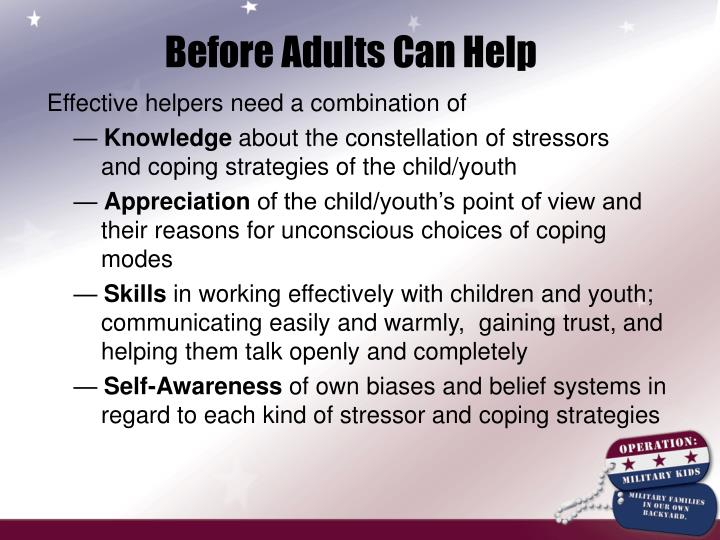 Before Adults Can Help
