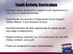 youth activity curriculum