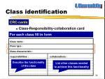 class identification2