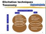 elicitation techniques taxonomy