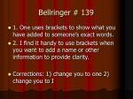 bellringer 139