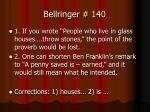 bellringer 140