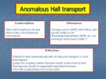 anomalous hall transport