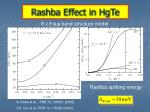 rashba effect in hgte