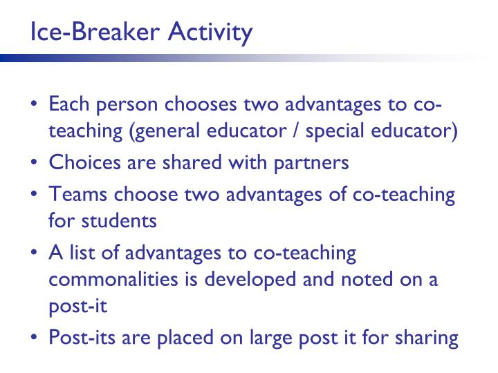 Ice-Breaker Activity