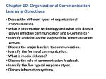 chapter 10 organizational communication learning objectives