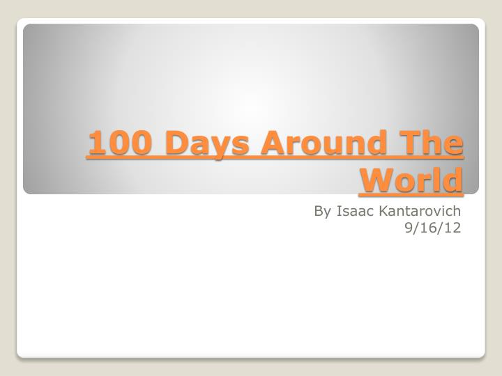 100 days around the world n.