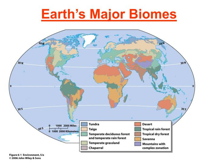 earth s major biomes n.