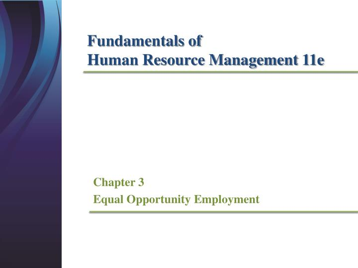 chapter 3 equal opportunity employment n.