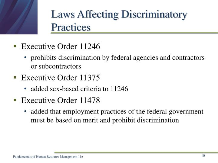 Laws Affecting