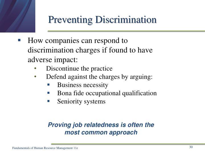 Preventing Discrimination