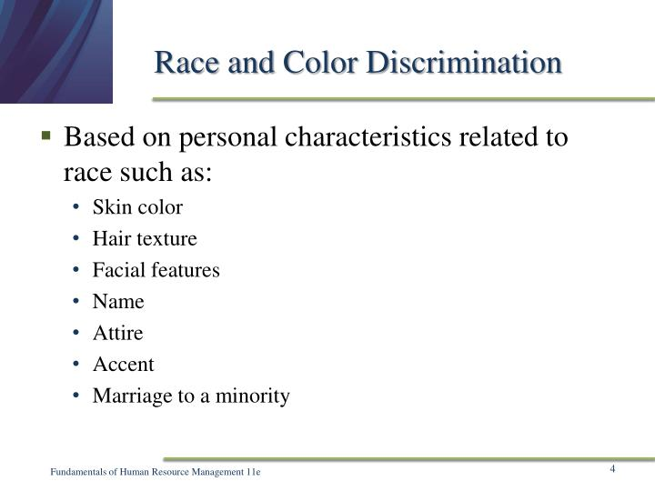 Race and Color Discrimination
