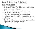 part 3 revising editing 20 minutes