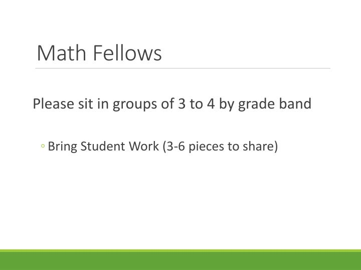 math fellows n.