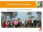 2011 brocher symposium