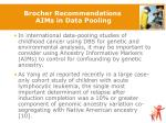 brocher recommendations aims in data pooling