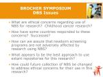brocher symposium dbs issues