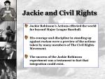 jackie and civil rights