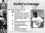 jackie s courage