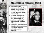 malcolm x speaks 1965