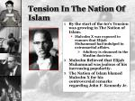 tension in the nation of islam