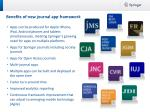 benefits of new journal app framework