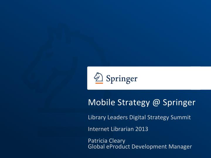 mobile strategy @ springer n.