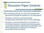 discussion paper contents
