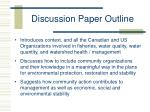 discussion paper outline