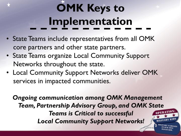 OMK Keys to Implementation