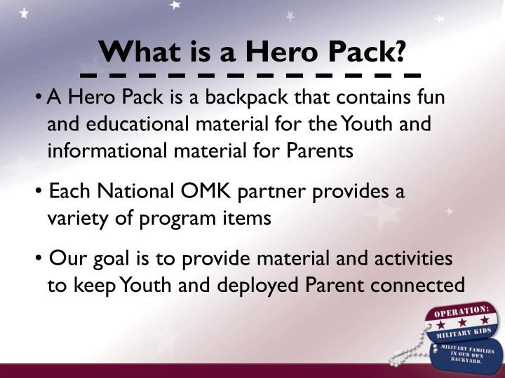 What is a Hero Pack?