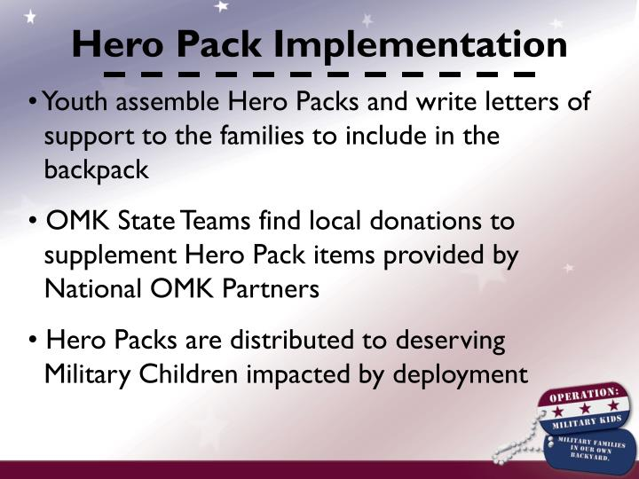 Hero Pack Implementation