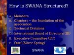 how is swana structured