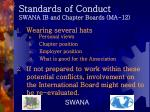 standards of conduct swana ib and chapter boards ma 12
