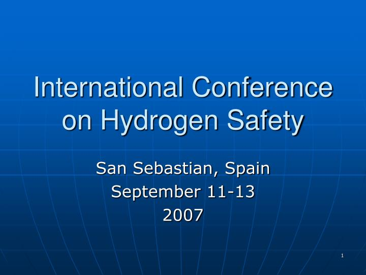 international conference on hydrogen safety n.