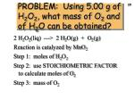 problem using 5 00 g of h 2 o 2 what mass of o 2 and of h 2 o can be obtained