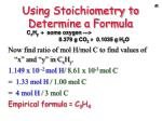 using stoichiometry to determine a formula3