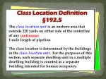 class location definition 192 5