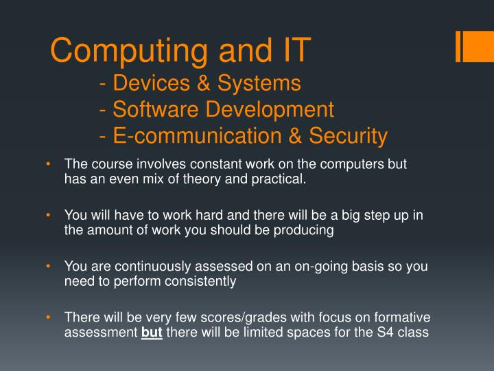computing and it devices systems software development e communication security n.