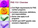 fns 113 1 overview