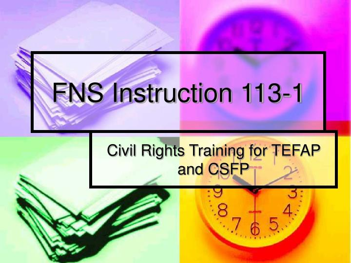 fns instruction 113 1 n.