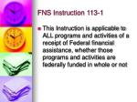 fns instruction 113 11