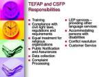 tefap and csfp responsibilities