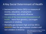 a key social determinant of health