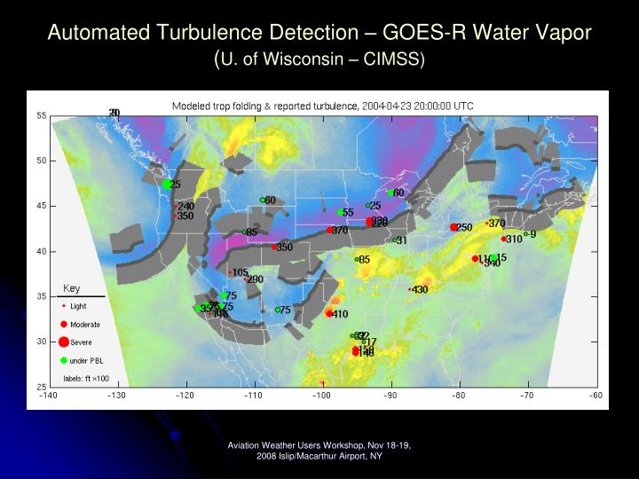 Automated Turbulence Detection – GOES-R Water Vapor