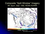 composite split window imagery mt spurr sept 1992 noaa avhrr