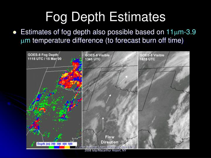 Fog Depth Estimates